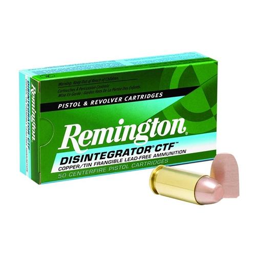 Remington Disintegrator Lead-Free 40 S&W Ammo 141 Grain Frangible