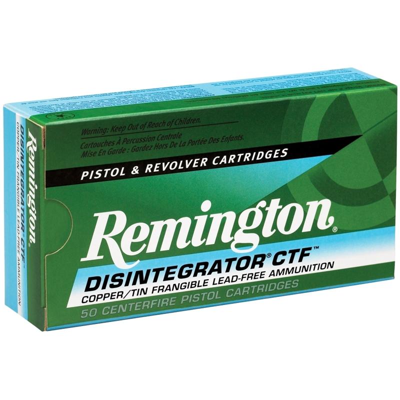 Remington Disintegrator Lead Free 9mm Luger Ammo 100 Grain +P Copper/Tin Frangible