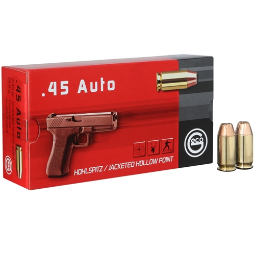 Geco 45 ACP Auto Ammo 230 Grain Jacketed Hollow Point