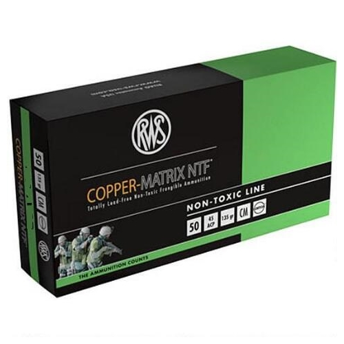 RWS Copper-Matrix 357 Sig Ammo 100 Grain NTF