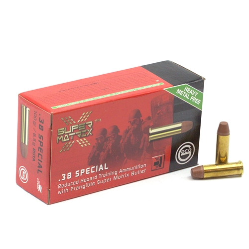 Geco Super Matrix 38 Special Ammo 100 Grain Frangible Lead-Free