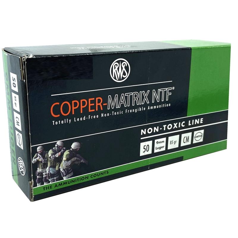 RWS Copper-Matrix 9mm Luger Ammo 85 Grain NTF