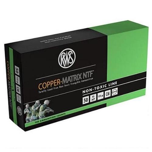 RWS Copper-Matrix 40 S&W Ammo 115 Grain NTF