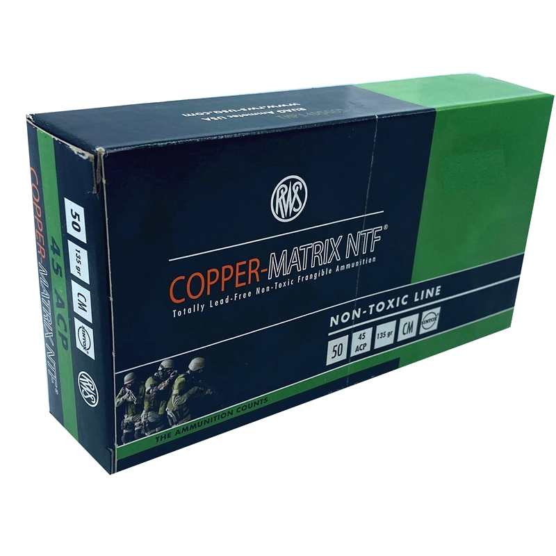 RWS Copper-Matrix 40 S&W Ammo 115 Grain NTF