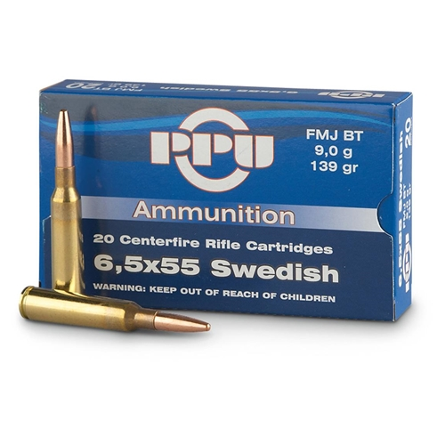 Prvi Partizan 6.5x55mm Swedish Mauser Ammo 139 Grain FMJ