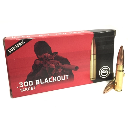 Geco Target 300 AAC Blackout Ammo 220 Grain Subsonic