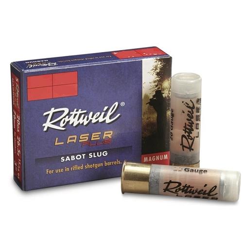 "Rottweil Laser Plus 20 Gauge 2-3/4"" 15/16 oz Sabot Slug"