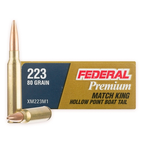 Federal 223 Remington Ammo 80 Grain Sierra MatchKing HP