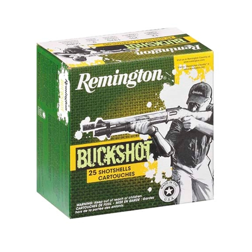 "Remington Express 12 Gauge Ammo 2-3/4"" 00 Buckshot 9 Plts 25Rds"