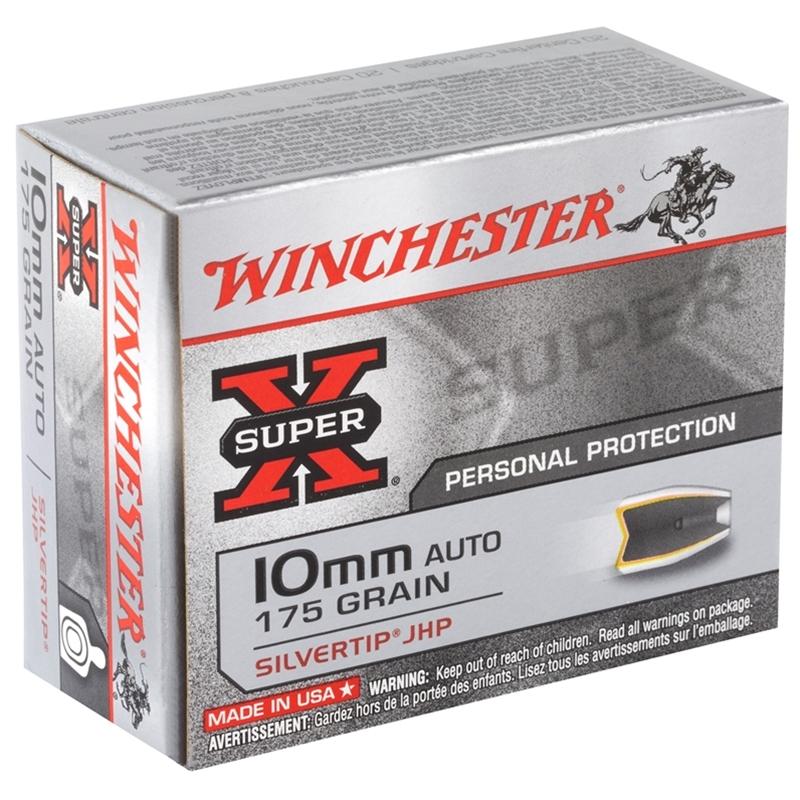 Winchester Super-X 10mm Ammo Auto 175 Grain SHP