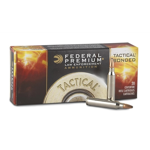 Federal Tactical 223 Remington Ammo 55 Grain Bonded SP
