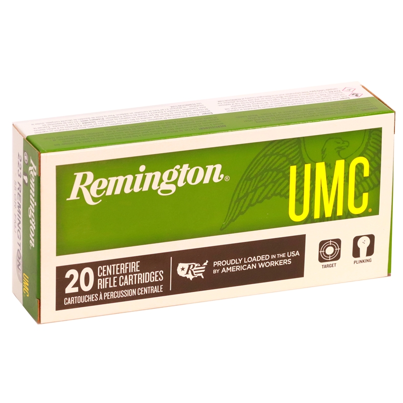 Remington UMC 223 Remington Ammo 55 Grain FMJ Bulk 500 Rds