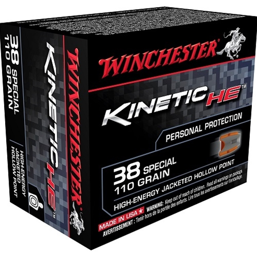 Winchester Kinetic High Energy 38 Special Ammo 110 Grain JHP
