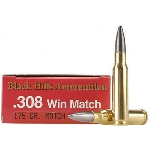 Black Hills 308 Winchester Match Ammo 175 Grain BTHP