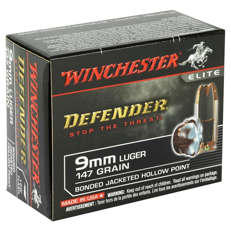 Winchester PDX1 9mm Luger 147 Grain Bonded Jacketed Hollow Point