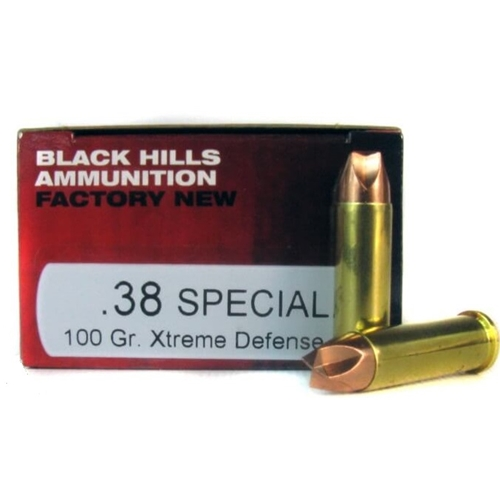 Black Hills 38 Special Ammo +P 100 Gr Lehigh Xtreme Defense LF