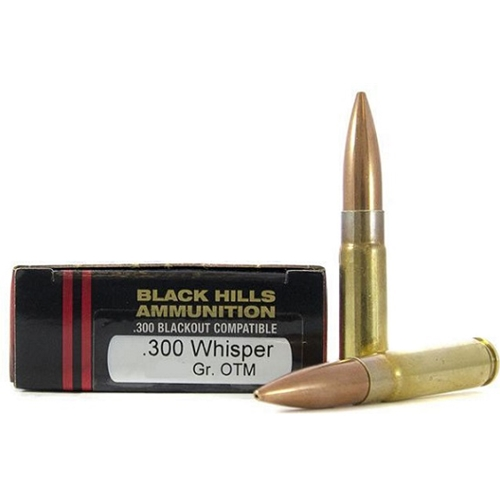 Black Hill 300 Whisper Ammo 125 Grain Sierra OTM