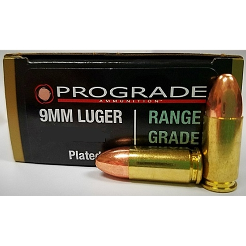 Prograde Range Grade 9mm Luger 115 Grain Plated Round Nose