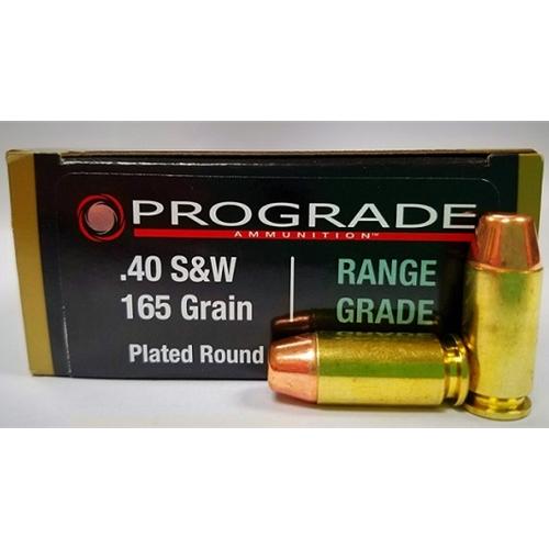 Prograde Range Grade 40 S&W Ammo 165 Grain PRN FP