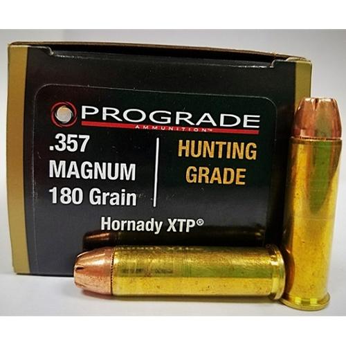 Prograde Hunting Grade 357 Magnum Ammo 180 Grain Hornady XTP