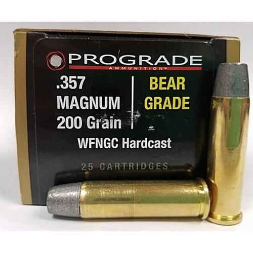 Prograde Bear Grade 357 Magnum Ammo 200 Grain Wide Flat Nose Gas Check  Hardcast
