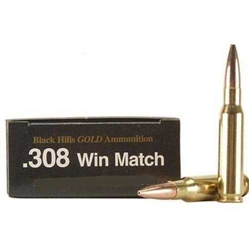 Black Hills Gold 308 Winchester Ammo 155 Grain STMK
