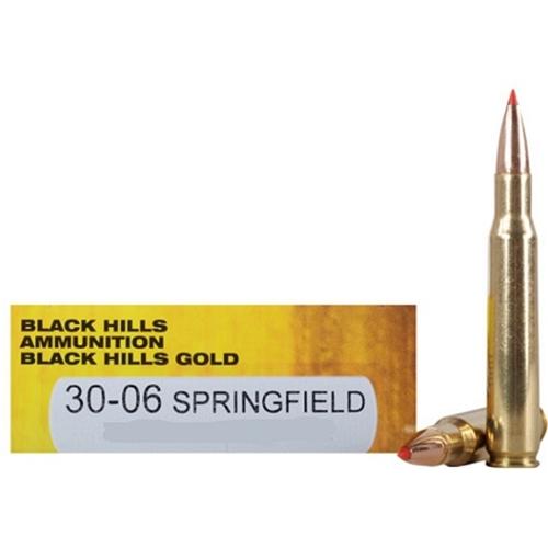 Black Hills Gold 30-06 Springfield Ammo 168 Grain Hornady ELD-M