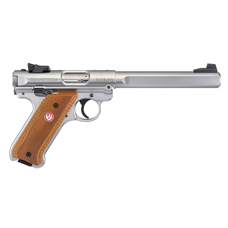 "Ruger Mark IV Competition 22 Long Rifle Semi-Auto 6.88"" 10 Rds SS"