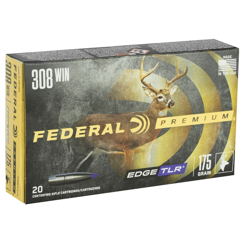Federal Edge TLR 308 Winchester Ammo 175 Grain Polymer Tip BT