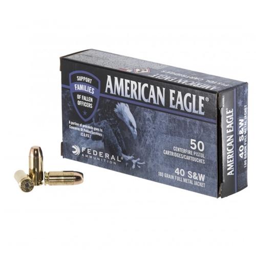 Federal American Eagle C.O.P.S 40 S&W Ammo 180 Grain FMJ