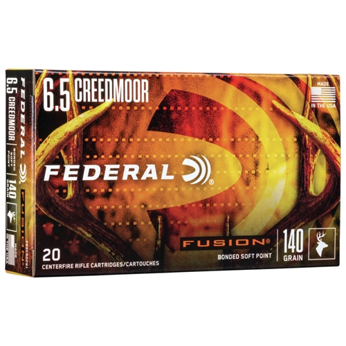 Federal Fusion 6.5 Creedmoor Ammo 140 Grain Soft Point