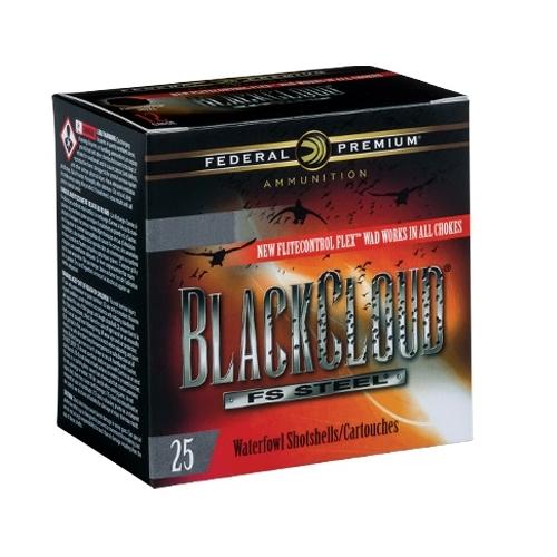 """Federal Black Cloud 12 Gauge Ammo 2-3/4"""" 1-1/8oz #4 Steel Shot"""