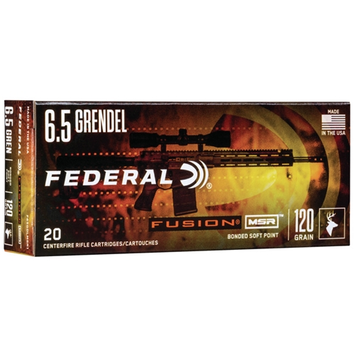 Federal Fusion MSR 6.5 Grendel Ammo 120 Grain SP
