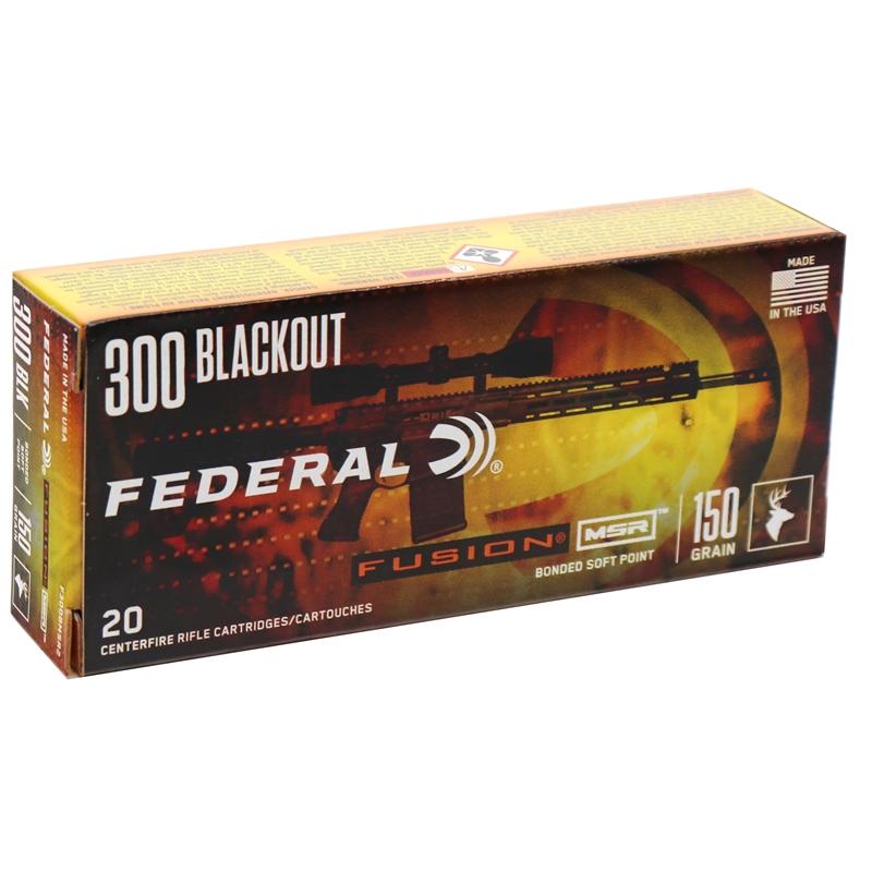 Federal Fusion MSR 300 AAC Blackout Ammo 150 Grain SP