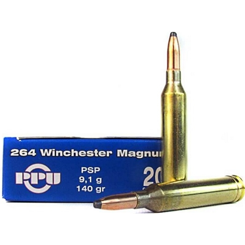 Prvi Partizan 264 Winchester Magnum Ammo 140 Grain PSP