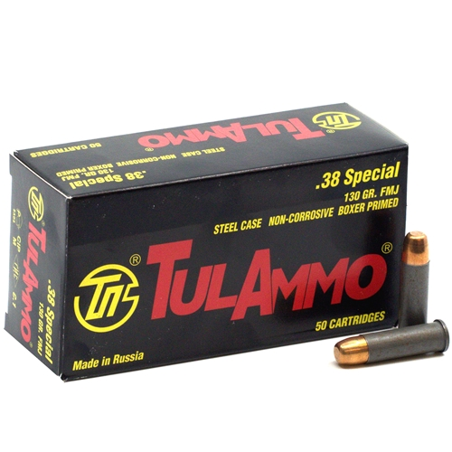 Tulammo 38 Special Ammo 130 Grain FMJ Steel Case