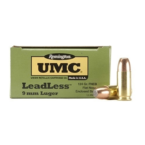 Remington UMC Leadless 9mm Luger Ammo 124 Grain FNEB