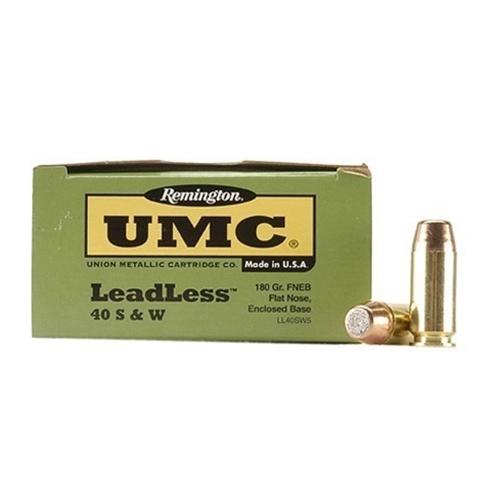 Remington UMC Leadless 40 S&W Ammo 180 Grain FNEB