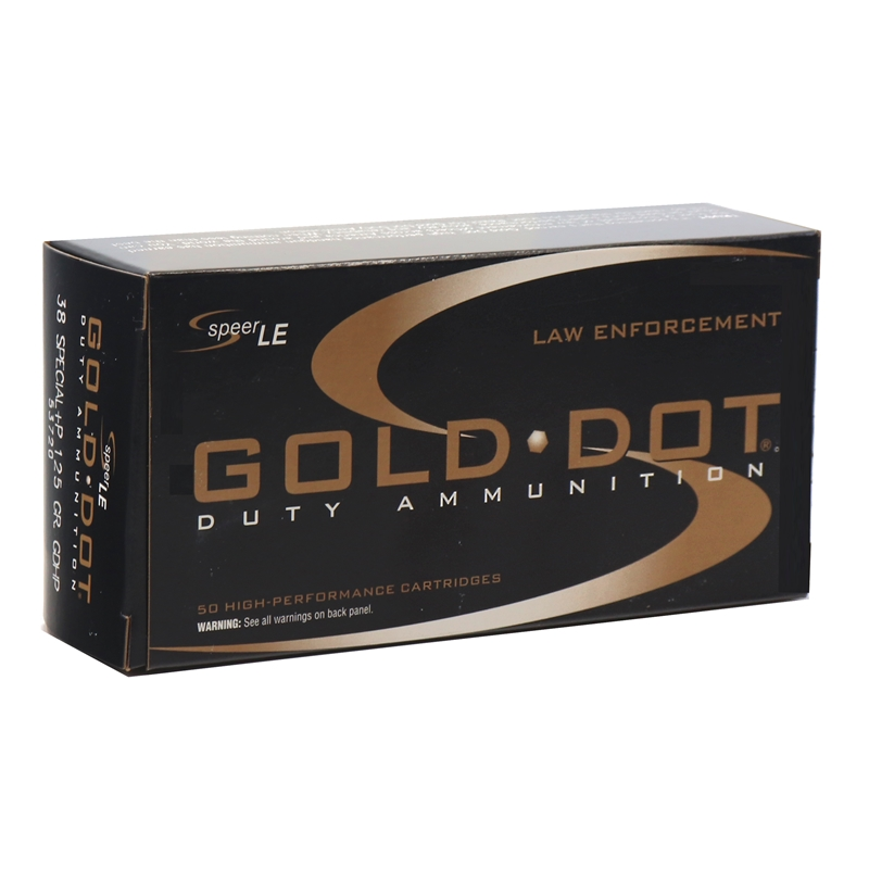 Speer Gold Dot LE Duty 38 Special Ammo 125 Gr +P JHP