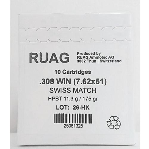 Ruag Swiss Match 308 Winchester Target Ammo 175 Gr HPBT