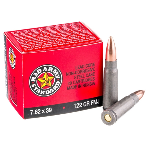 Red Army Standard 7.62x39mm Ammo 122 Grain FMJ