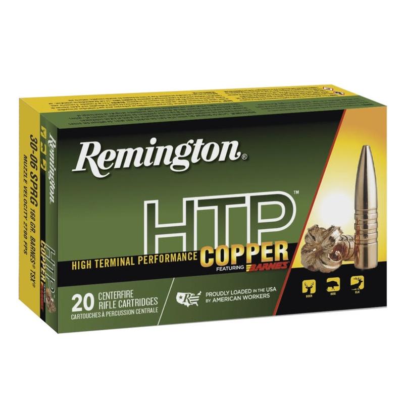 Remington HTP Copper 30-06 Springfield Ammo 168 Gr Barnes TSX