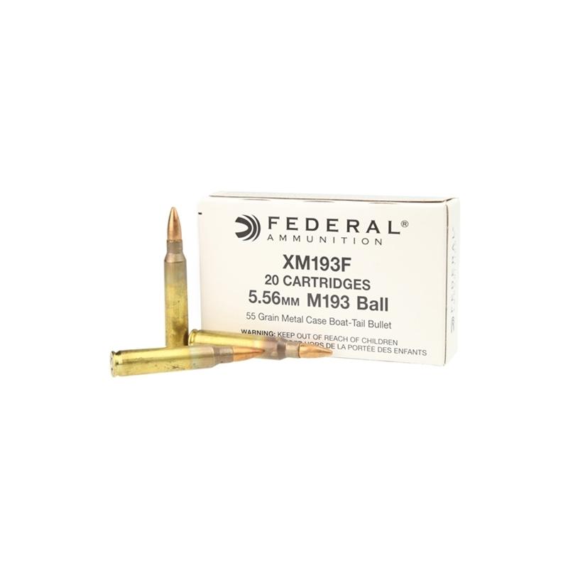 Federal Lake City 5.56x45mm M193 NATO Ammo 55 Grain FMJBT