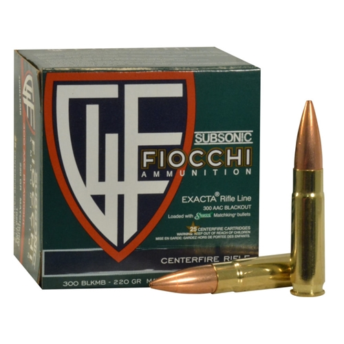 Fiocchi Shooting Dynamics 300 AAC Blackout Subsonic Ammo 220 Grain Sierra MatchKing
