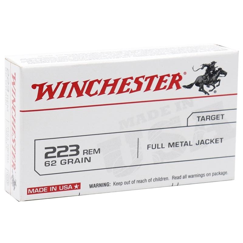 Winchester USA 223 Remington 62 Grain Full Metal Jacket