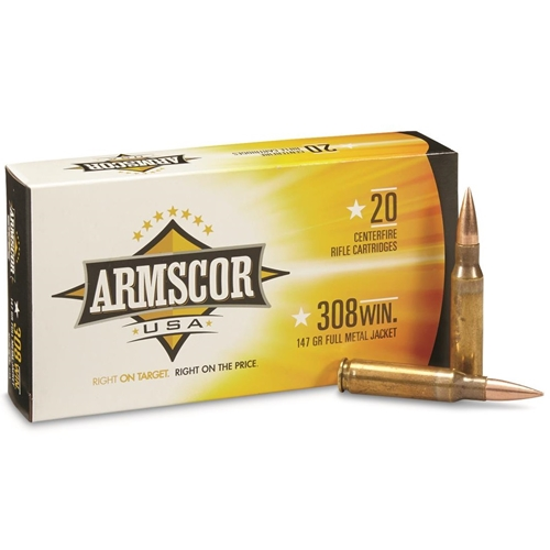 Armscor USA 308 Winchester Ammo 147 Grain Full Metal Jacket