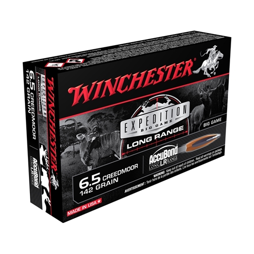 Winchester Expedition Big Game LR 6.5 Creedmoor Ammo 142 Gr NA