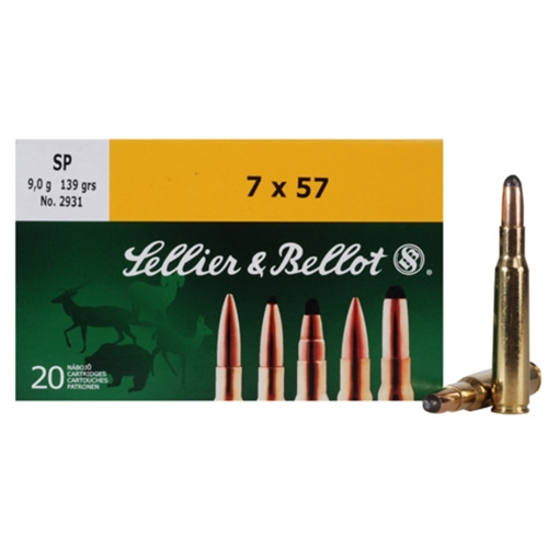 Sellier & Bellot 7x57mm (7mm Mauser) Ammo 140 Gr SP