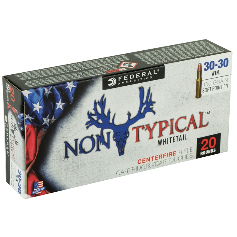 Federal Non-Typical 30-30 Winchester Ammo 150 Grain Soft Point FN