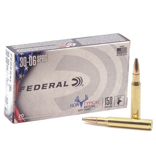 Federal Non-Typical 30-06 Springfield Ammo 150 Grain SP